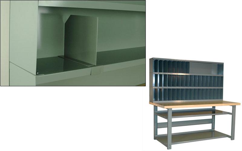 Riser Shelves Amp Dividers For Workbenches Sjf Com