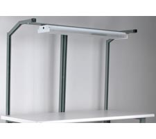 1 Set - Split Angled Supports - With Overhead Light