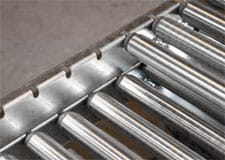 conveyor frames, galvanized frame, gravity conveyor frame, drop-in rollers