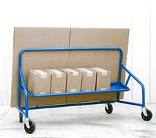 Nestable Panel Cart with Boxes and Panel