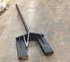 Fork Mounted Carpet Pole