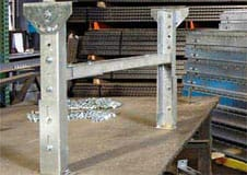 conveyor stands, adjustable conveyor stand, galvanized conveyor