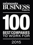 Award Winner of the 2015 100 Best Companies To Work For