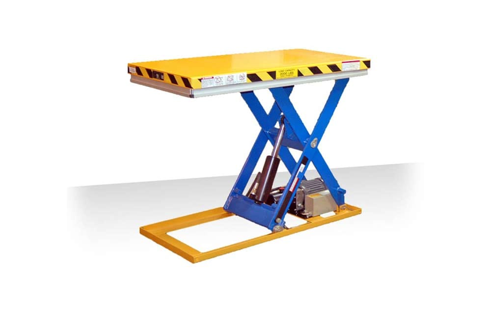 Autoquip Lift Table - Raised with skirt pushed aside