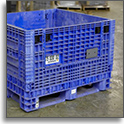 Industrial Collapsible Plastic Bulk Containers at SJF Material Handling