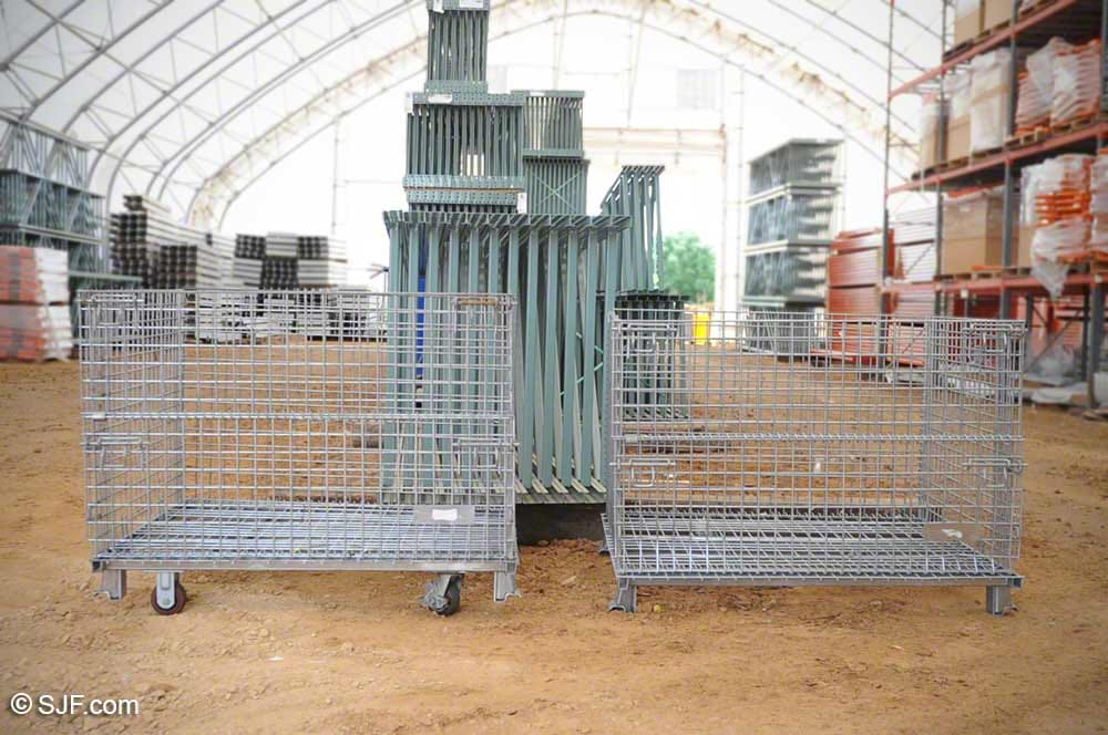 Folding Wire Basket with and without casters