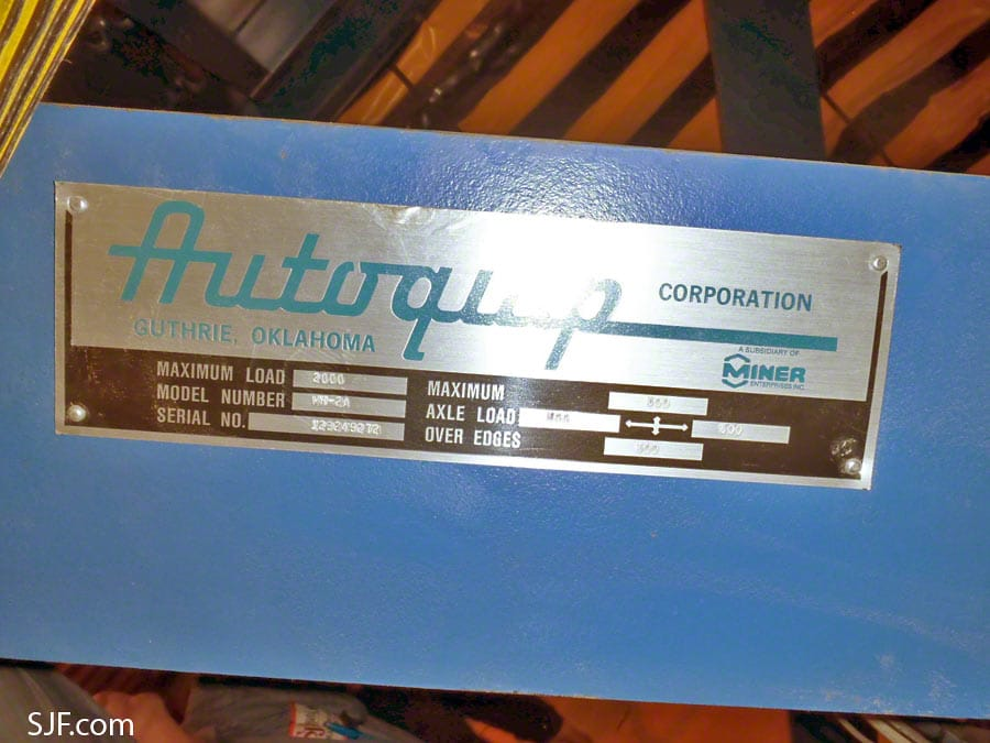 Autoquip Lift Table - Label