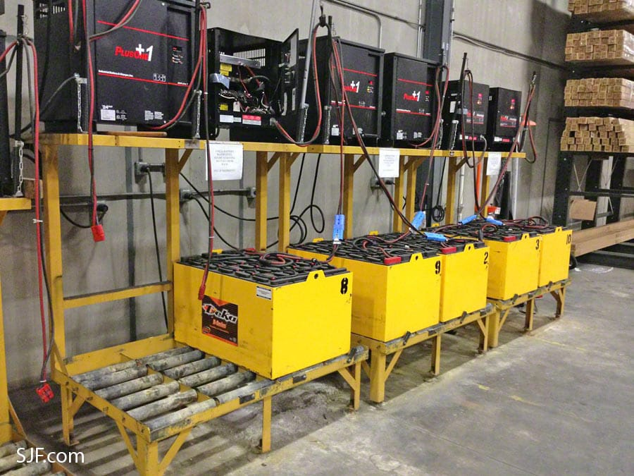 Used Forklift Batteries, Chargers and Changing Stations