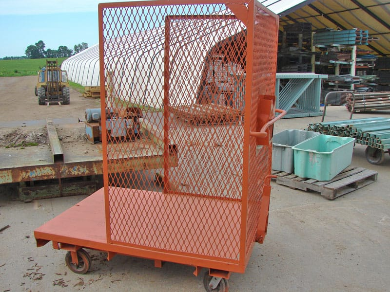Wire Mesh Cart - Side View
