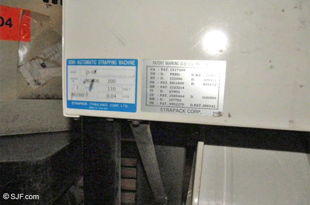 Strapak Strapping Machine Manufacturer Label