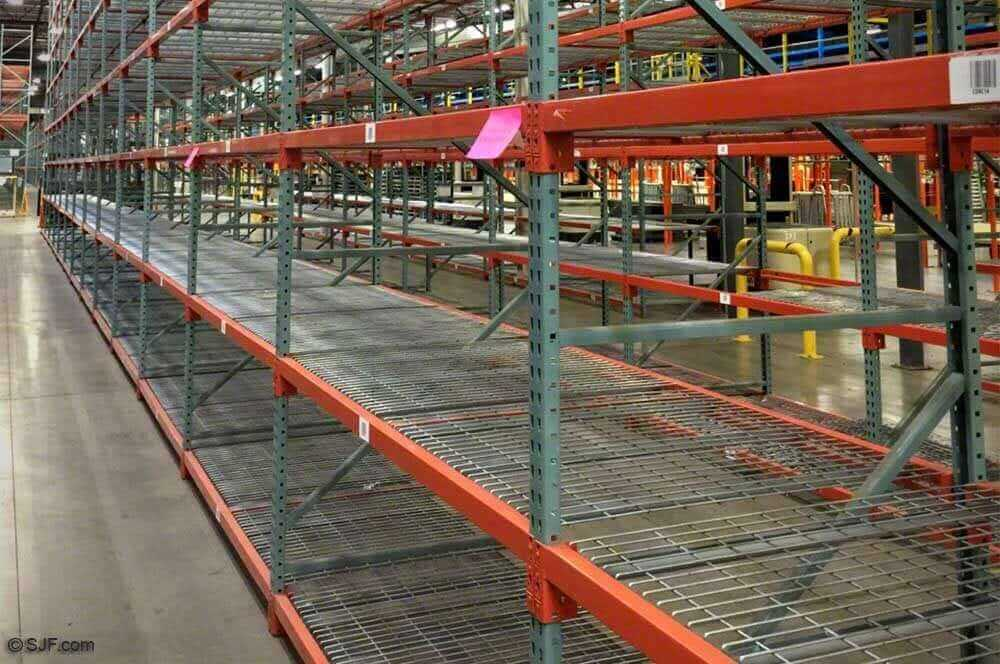 Interlake new style teardrop pallet rack