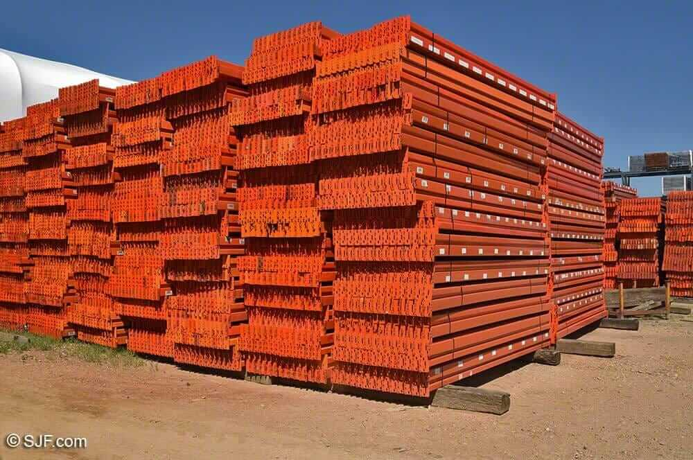 UsedTeardrop Pallet Racking Beams