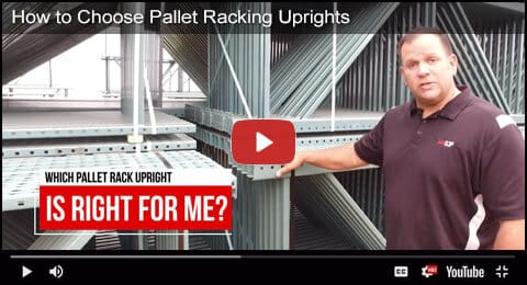 Pallet Rack Upright Video