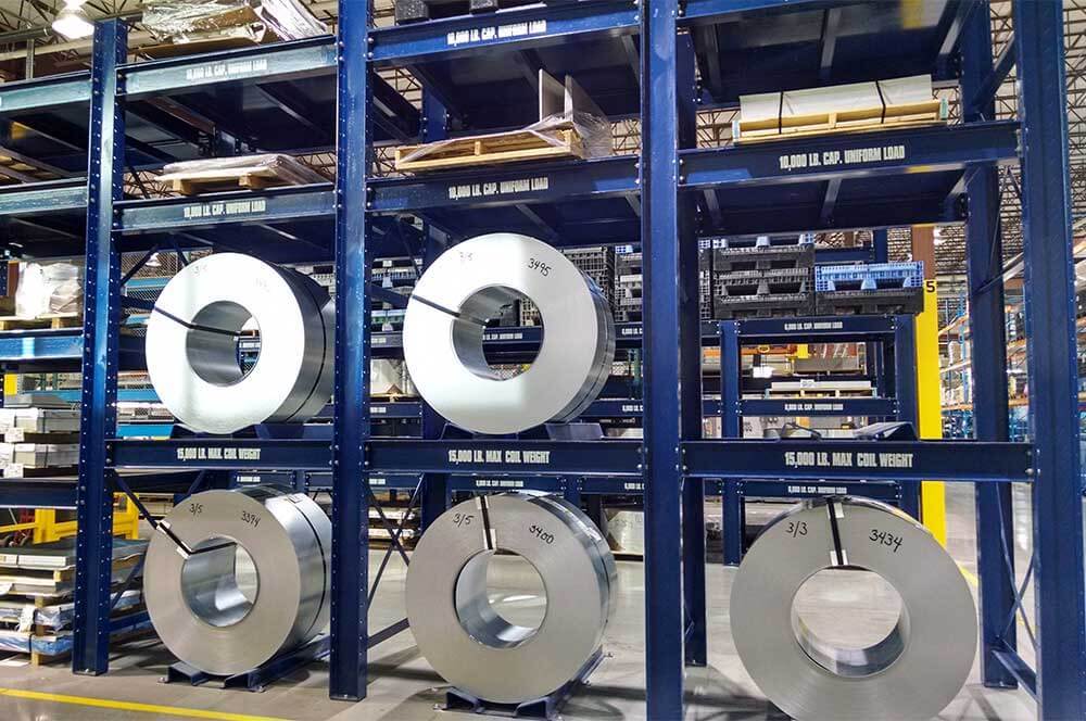 Steel Coil Stands : Steel coil racks storage rack systems sjf