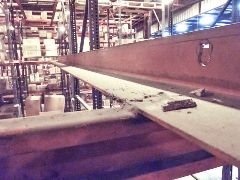 Hiline Drive-in - View down a rail