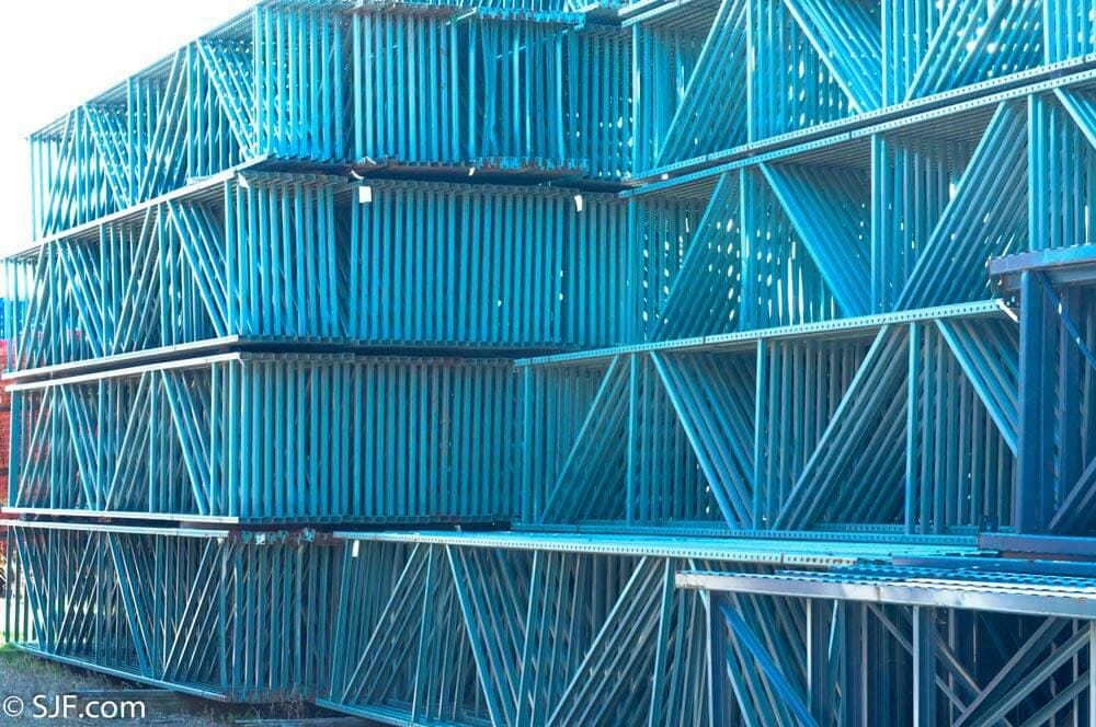 Interlake Pallet Rack Uprights - Blue