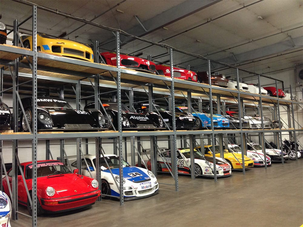 Auto & Salvage Yard Cantilever Storage Racks | SJF.com