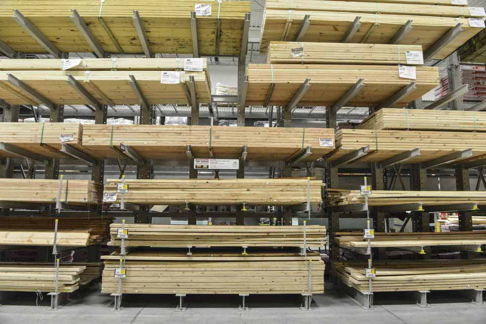 Cantilever rack prices new used for Lumber yard storage racks