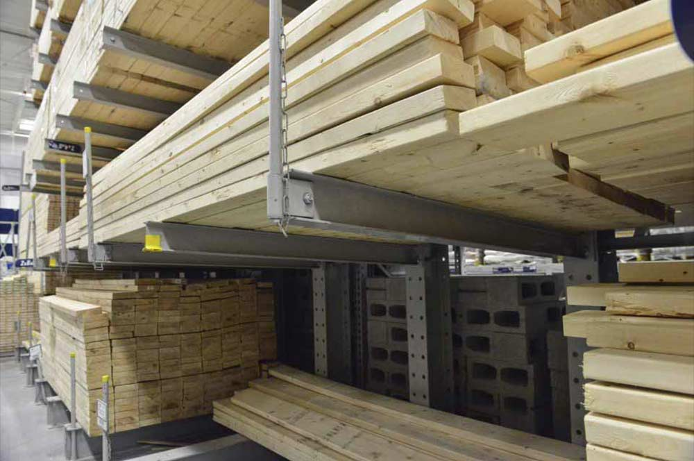 Storage for lumber and building supplies