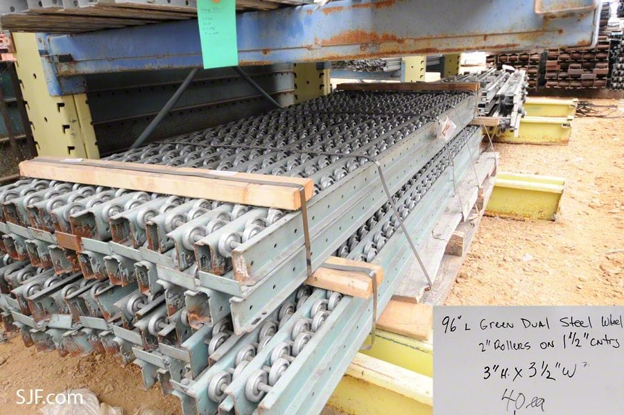 Lot 10 - Dual Steel Wheel Pallet Flow