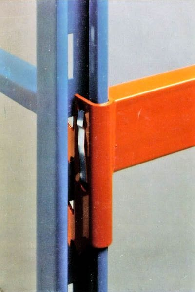 Closeup of Prest Beam and Upright Connection