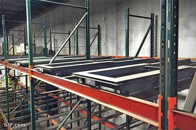 Push-back Pallet Storage Rack Systems