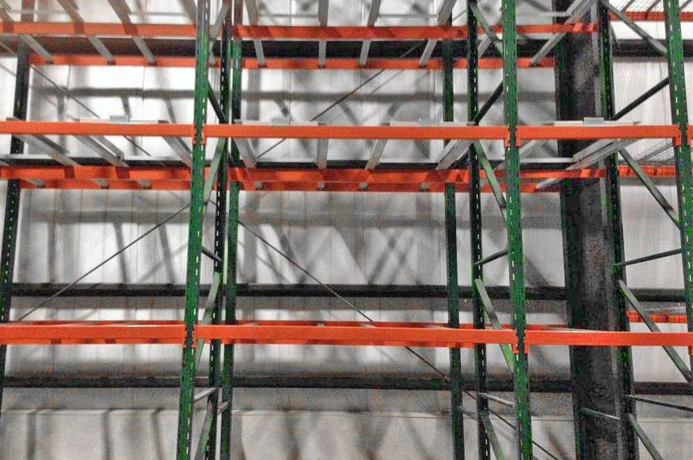 Used Ridg-U-Rak - 2 Pallets Deep Pushback Racking