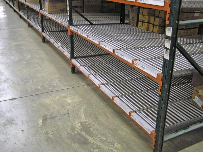Span Track installation in Ridg-u-rak pallet rack