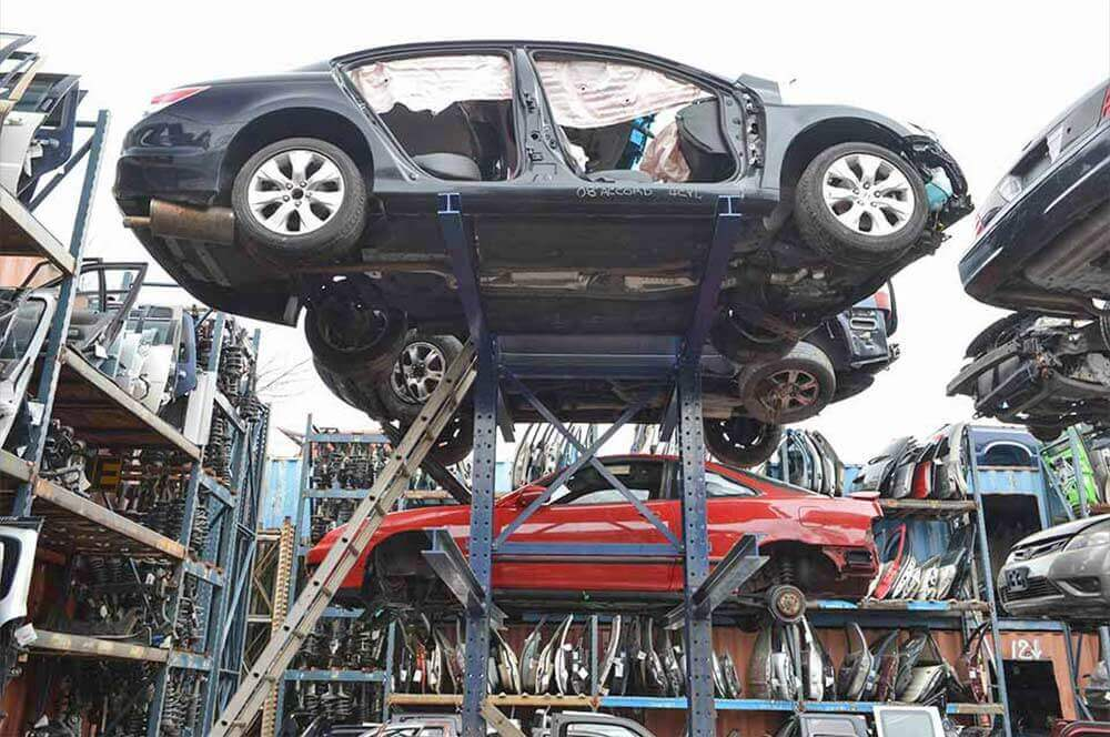 New Vehicle Storage Racking & Auto u0026 Salvage Yard Cantilever Storage Racks | SJF.com