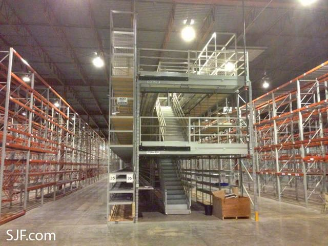 Used Industrial Shelving Units - End View