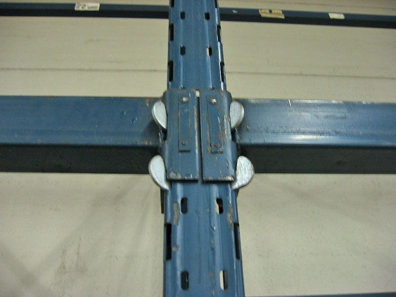 Close-up of Sturdi-Built Upright and Beam Connection