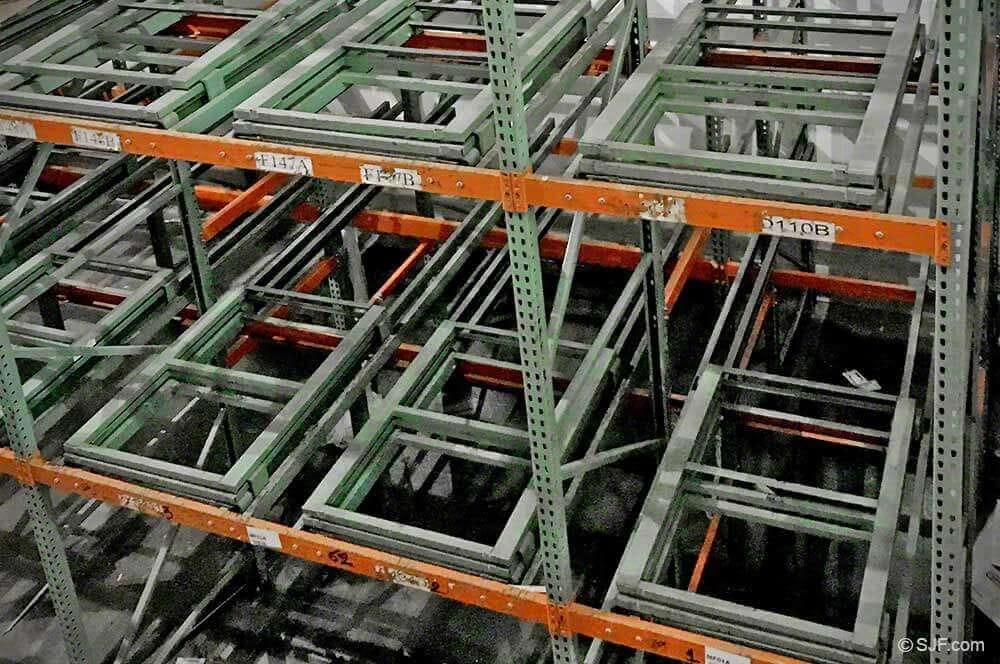 Interlake push back racking system