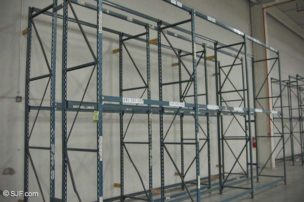 Sturdi-Bilt Pallet Rack in a Back-to Back Row Configuration