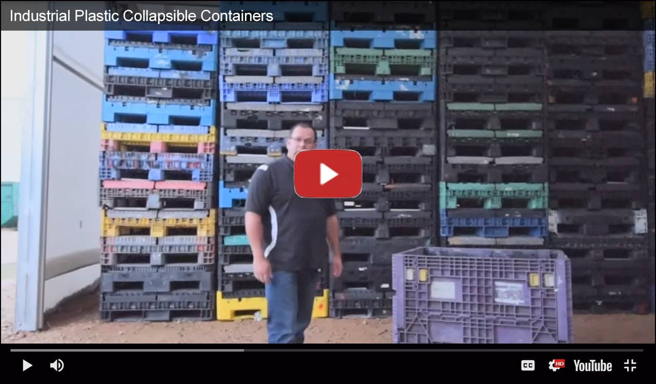 Industrial Plastic Collapsible Containers Video