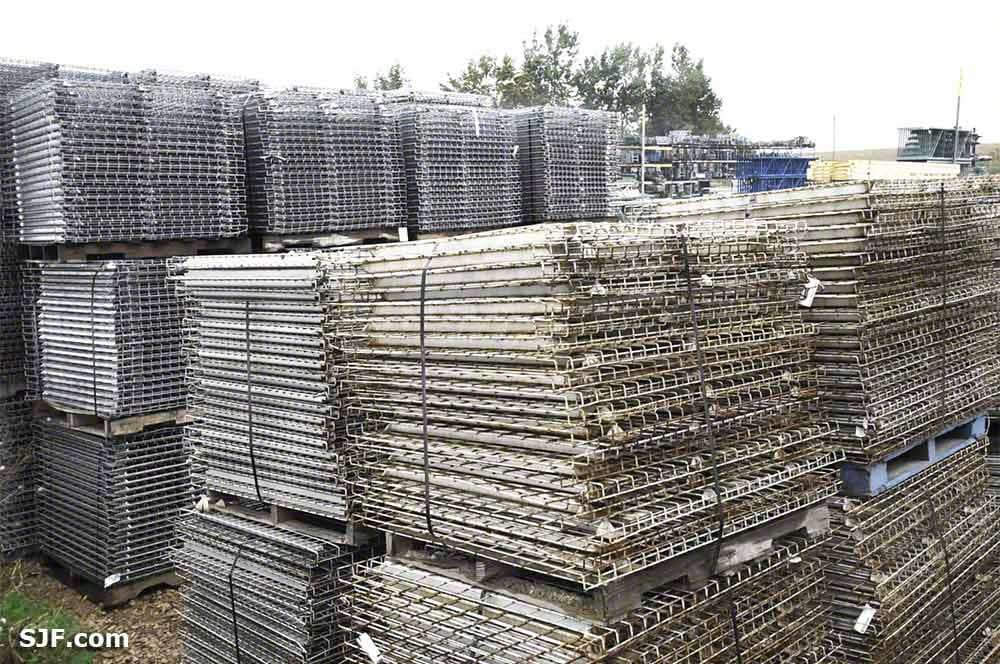 Pallet Rack Wire Mesh Decking | Wire Decking For Pallet Racks New Used Prices Sjf Com