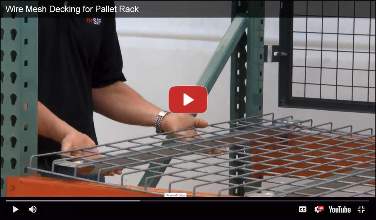 Wire mesh decking video